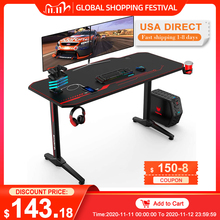 Computer-Table Ergonomic-Gaming-Desk Pro-Workstation 55inch E-Sports with Mouse-Pad Rack
