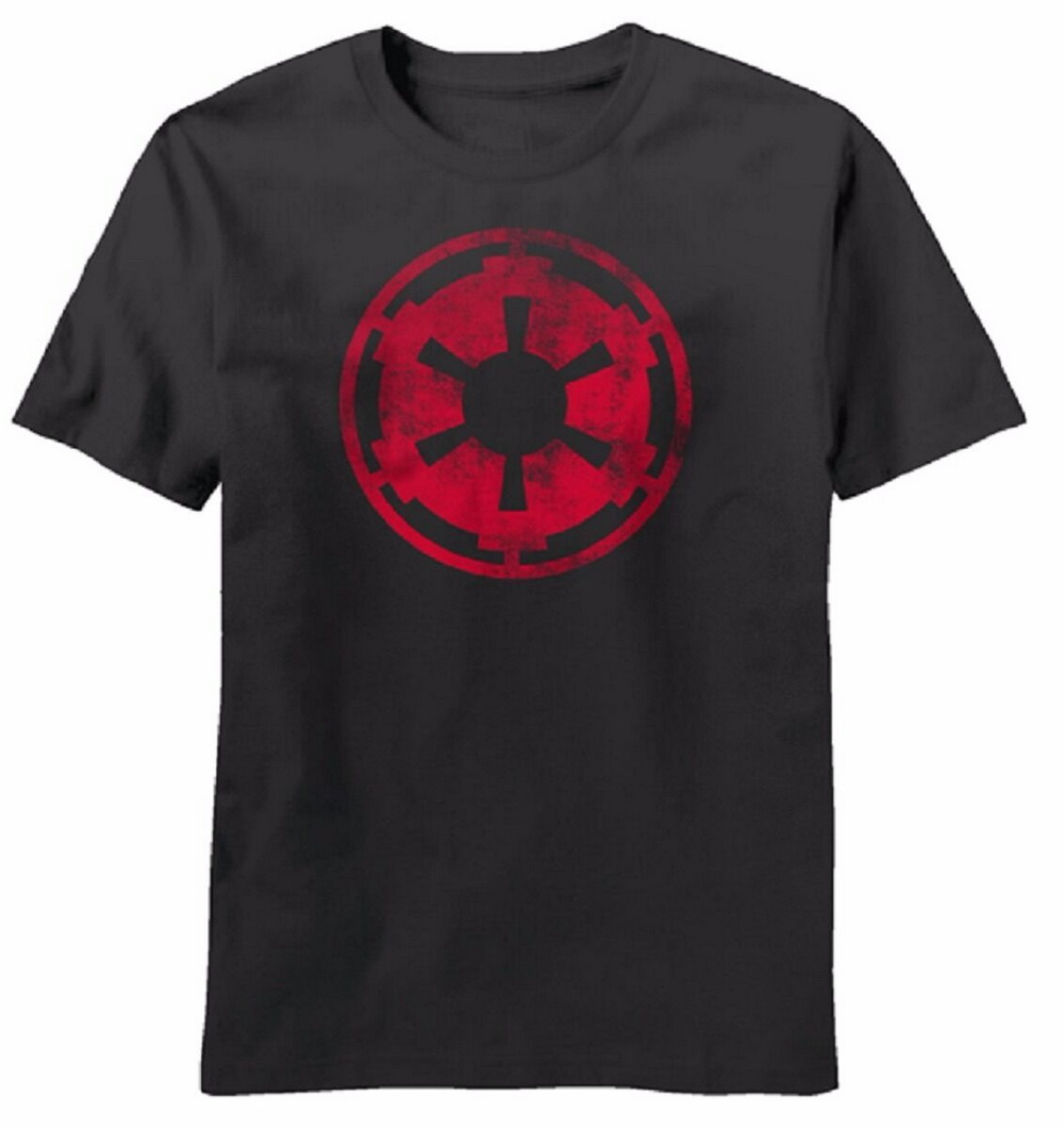Star Wars Movie Aging Empire Symbol Licensed Adult T-Shirt Cotton Tee Shirt For Youth Middle-age Old Age image