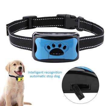 Waterproof Pet Dog Anti Barking Device Electric Dog Training Collar Dog Shock Deterrent Stop Barking Vibration Anti Bark Collar