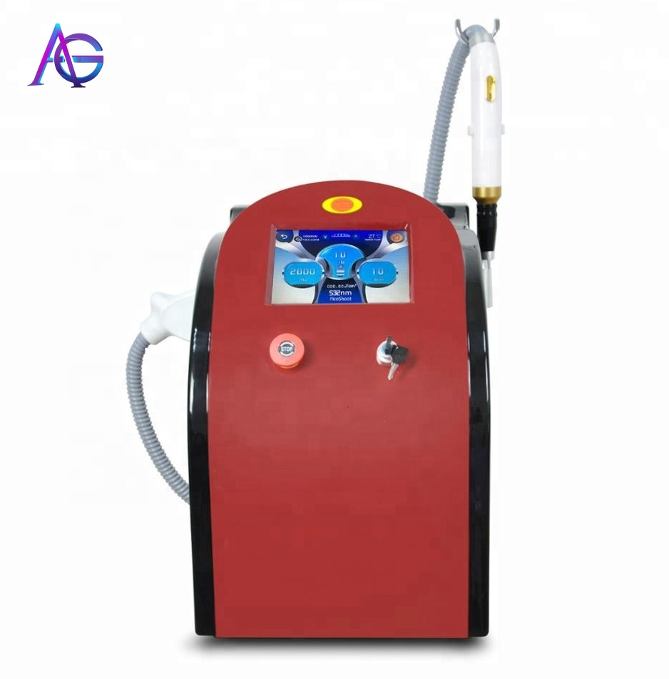 Portable 1064nm+black Doll +755nm 532nm Q-switched Tattoo Removal Beauty Apparatus