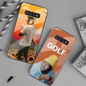 Мягкий чехол для телефона Tyler the creator Golf bees, закаленное стекло для Samsung S20 Plus S7 S8 S9 S10 Plus Note 8 9 10 Plus