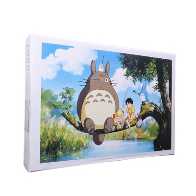 1000 PCs Jigsaw Puzzle General Paper Totoro Fishing Stall Night Market A Generation Of Fat Educational Toy Gift