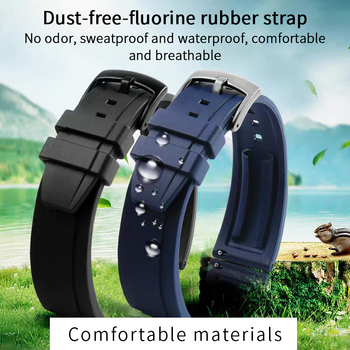 Diving watch strap Silicone Watchband 22mm Band Watch Accessories Strap 20mm  Rubber Bracelet Belt 22mm Waterproof 18mm 20mm 22mm watchband black rubber sport wrist men silicone military diving watch strap band for casio g shock accessories