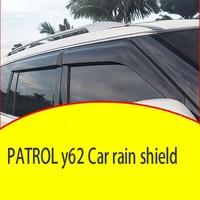 Voor Nissan12-20 Patrouille Y62 Regen En Glans Dikker Verbreden Refit Speciale Decoratieve Accessoires Patrol Venster Wenkbrauwen