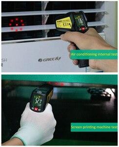 Image 4 - אינפרא אדום מדחום MAXRIENY BTM11 ללא מגע IR הדיגיטלי Pyrometer טמפרטורת מטר נקודת אקדח 50 ~ 580 תואר + מעורר + צבע
