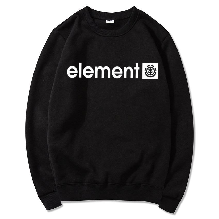 Element Sport Casual Printing Pullover Man Sweatshirt Trend Dress Sport Men Clothes  Sports Dress Round Collar Cotton Jumper