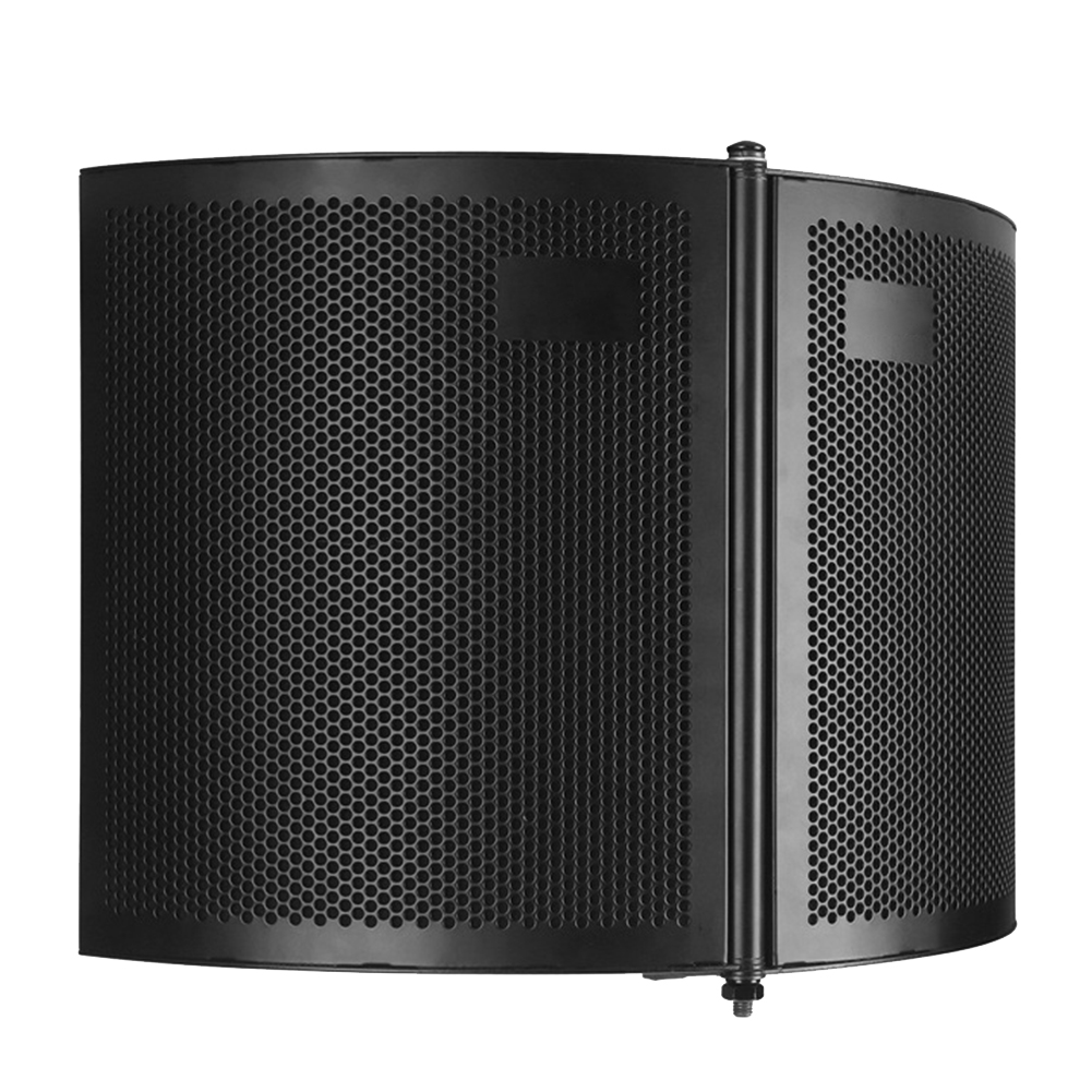 Foldable Windscreen Studio Recording Sound Absorber Soundproof Acoustic Speaking Foams Panel Filter Isolation Shield Microphone