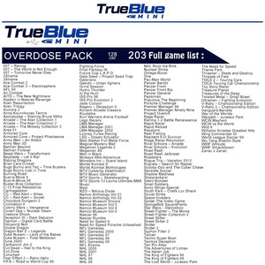 Image 3 - 203 Games True Blue Mini Overdose Pack for PlayStation Classic (128GB) Accessories 2019 Preorder Sales Hot 2 player games