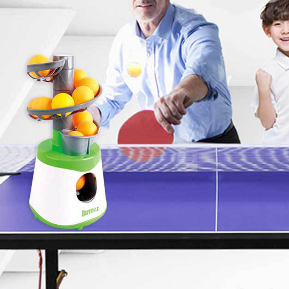 Outdoor Portable Trainer Serve Table Tennis Kids Children Equipment Professional Ball Machine Automatic Pong Launcher Pitcher