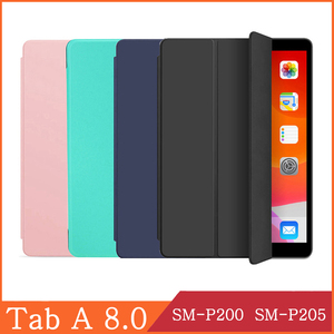 Tablet Case for Samsung Galaxy Tab A 8.0 2019 SM-P200 SM-P205 WIFI LTE 3G PU Leather Protective Cover Magnetic Case Coque Capa(China)