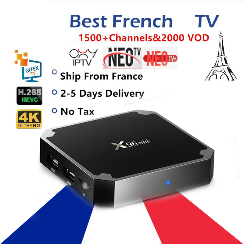 France Iptv Box X96 Mini Smart Android Tv Box 1500+live 1 Year Neo Tv Pro Subscription M3u France Europe Belgium Set Top Tv Box