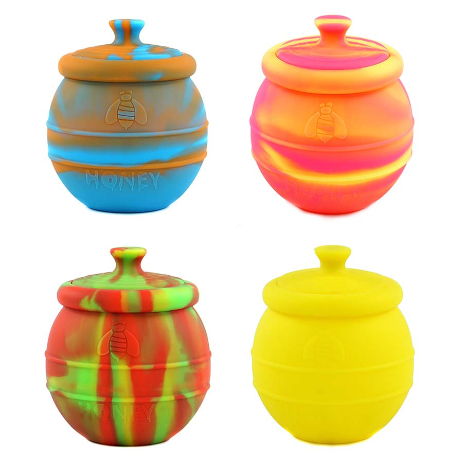 Creative Honeybee Design 500 ml Large Capacity with Cover Nonstick Silicone Dab Container Wax Jar Storage Oil Jars Concentrate