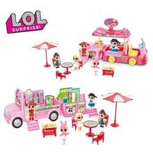 Оригинальный сюрприз ЛОЛ куклы игрушки набор для пикника машине тележку с мороженым в путешествие на автобусе Кукольный дом модель игрушки для девочки день рождения подарки