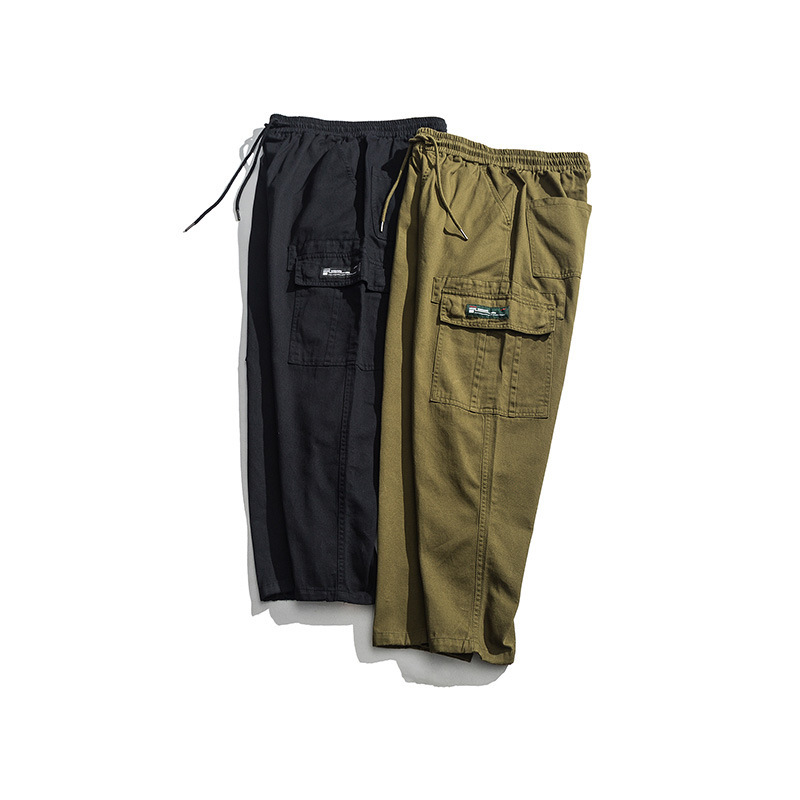 Vertical Ze Produced 2019/Summer Wear Labeling Large Pocket Bib Overall MAN'S Ninth Pants Casual Pants