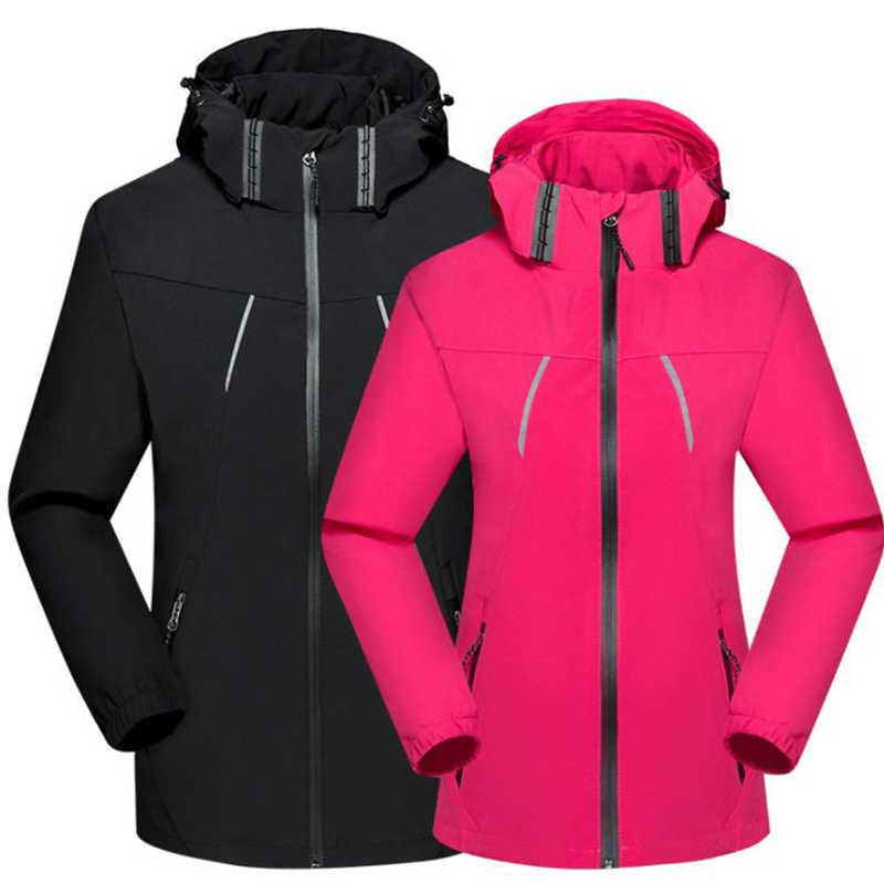Waterproof Windproof  Breathable Hooded Jacket Men Women Cycling Hiking Trekking