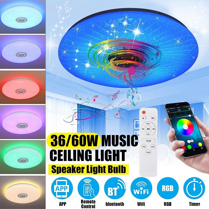 Smart 36W/60W 40cm 6500k RGB Led-deckenleuchten Moderne Lampe Wohnzimmer Schlafzimmer Küche APP Fernbedienung bluetooth Musik Licht