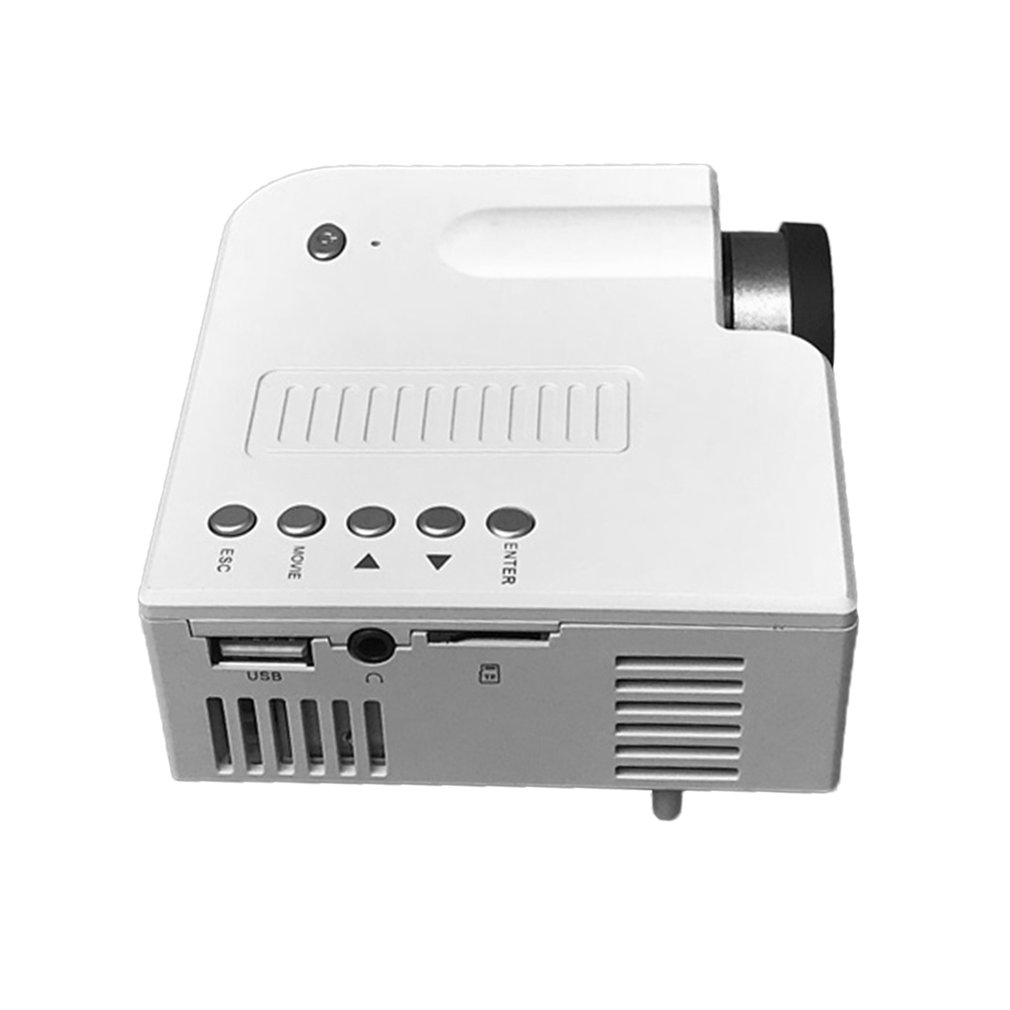 Uc28c + projetor em casa mini miniatura portátil 1080p hd projeção mini projetor led para entretenimento de teatro em casa-4
