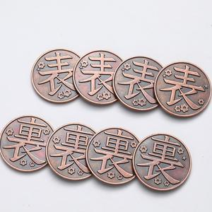1 шт. Новинка Аниме Demon Slayer Coin Kimetsu No Yaiba, реквизит для косплея, Tanjirou Nezuko, набор красных медных монет, жетоны, фигурки, игрушки в подарок