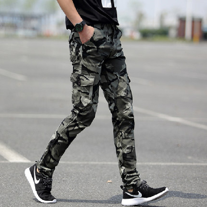 Casual Sports Camouflage Pants Men Popular Brand Slim Fit Pants Special Forces Korean-style Trend Wear-Resistant Outdoor Workwea