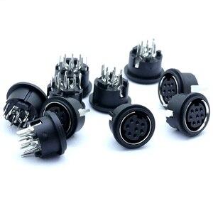 10 шт./лот 8 Pin мини DIN гнездовой разъем 8Pin DIN мини джек PS2 мини круговой DIN Клеммный корпус