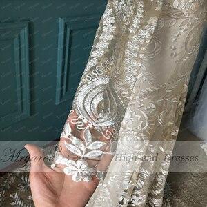 Image 4 - Mryarce vestido de noiva boho chique, moderno, único, vestido de noiva, com renda, mangas compridas, boêmio