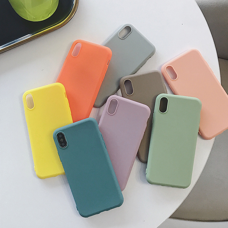 Candy Color <font><b>Case</b></font> for <font><b>OPPO</b></font> R15X RX17 Neo ax7 F9 Pro F7 <font><b>A3S</b></font> R17 Back Cover Ultra Thin Soft Solid Matte Cover <font><b>Phone</b></font> Fundas Coque image