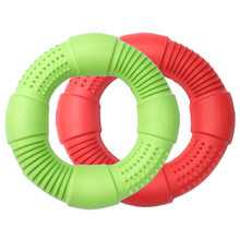 CAITEC Dog Toys Foam Ring Toy Soft Bite Ring Light Durable Floatable Bite Resistant Interactive Toy 3 Size for Choosing
