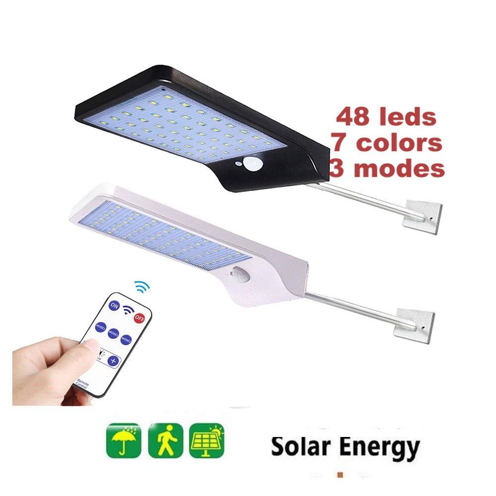 48 LED Solar Light Wall Lamp For Outdoor Yard Garden Lamps PIR Motion Sensor LED Lights Waterproof Security Yard LED Lighting