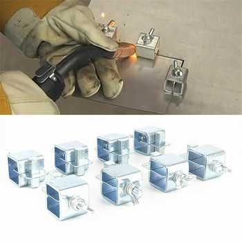 цена на 8PCS  Welding Butterfly Clip Clamps Holder Butt Welding Clamp Welding Positioner Fixture Adjustable For Welding Clamps Tools Set