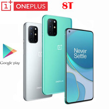Smart Phone originale Global Rom Oneplus 8T 5G 65W Super Charge 4500mAh Snapdragon 865 Android 11 NFC Google Play schermo AMOLED