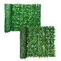 0,5x3 м, рулон искусственных листьев для садового ограждения, защита от УФ-лучей, искусственный забор, настенное озеленение, плющ, забор, панел...