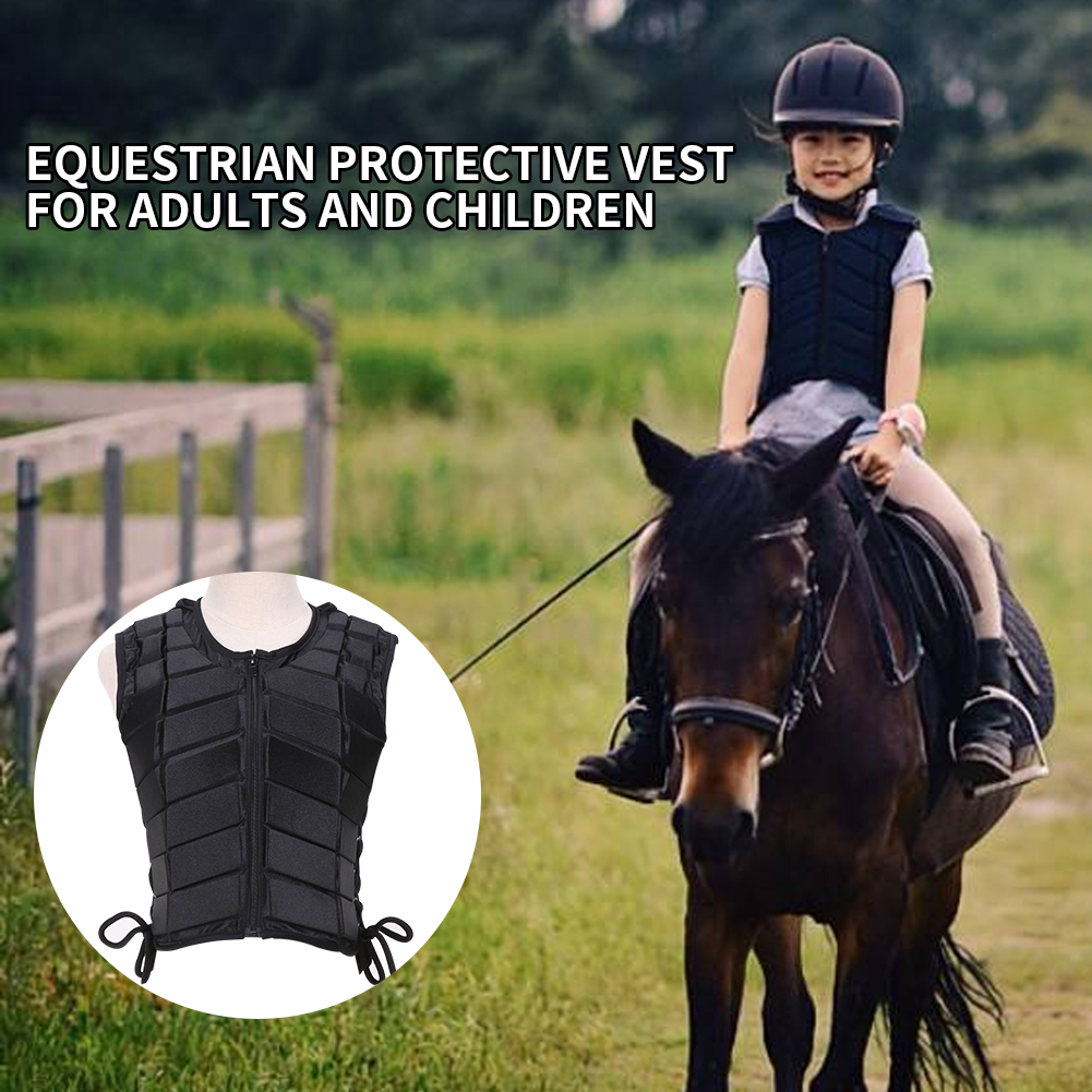 Unisex Children Accessory EVA Padded Damping Equestrian Horse Riding Sports Outdoor Vest Body Protective Adult Safety Eventer