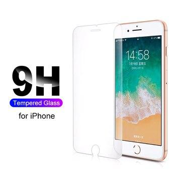 Pellicola protettiva / Vetro Temperato per  Iphone 7 6 6s 8 Plus 11 Pro Xs Max Xr X  Iphone 5 5s Se 5c 4 4s S 1