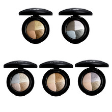 Eyeshadow-Palette Eyes Makeup Glitter 4-Colors Mineral-Powder Golden-Smoky MYG Baked