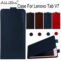 На Алиэкспресс купить чехол для смартфона ailishi case for lenovo tab v7 luxury flip top quality pu leather case exclusive 100% phone protective cover skin+tracking