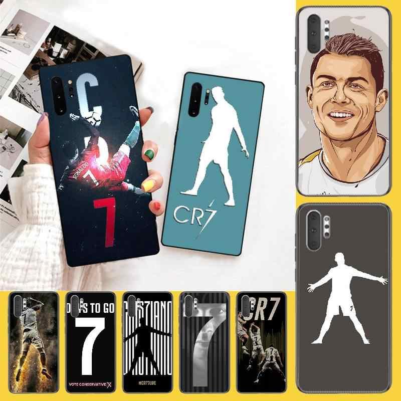 PENGHUWAN CR7 logo cristiano ronaldo 7 DIY malowane błyszczące etui na telefon dla Samsung uwaga 3 4 5 7 8 9 10 pro M10 20 30
