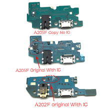 10個、usb充電ポートボードフレックスケーブルコネクタサムスンギャラクシーA20 A205F A205 A202F A202マイクモジュール