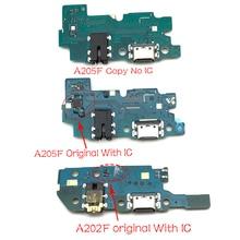 10Pcs, usb poort Opladen Board Flex Kabel Connector Onderdelen Voor Samsung Galaxy A20 A205F A205 A202F A202 Microfoon Module