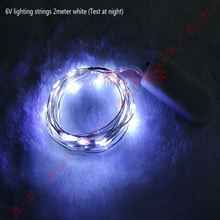 6v lighting strings led decorative chain white warm white red yellow blue green 2meter 20leds highlight Waterproof IP68