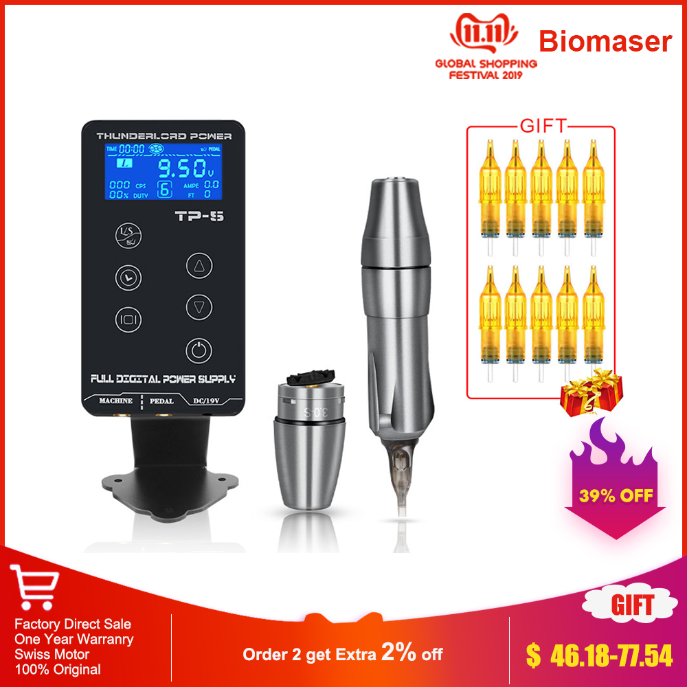 TP-5 Touch Screen Professional Tattoo Power Supply Kit UPGRADE Power Supply Digital LCD Display Tattoo Power Supply