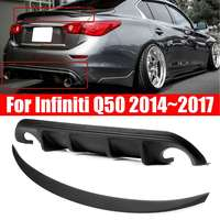 2pcs for AQ Style Rear Bumper Diffuser for JDM Style Trunk Spoiler For Infiniti Q50 2014~2017|Bumpers|   -