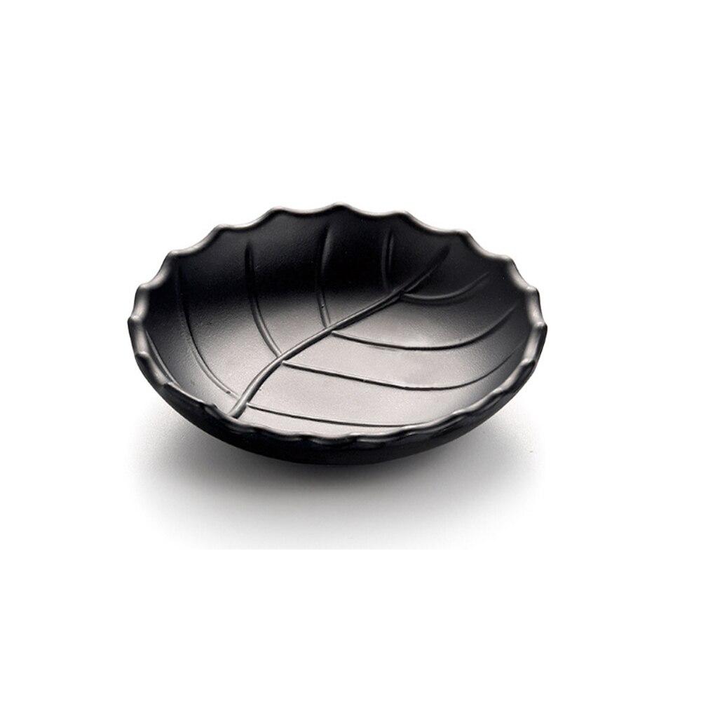 Black Resin Leaves Plate Tree Leaf Jewelry Snacks Dessert Silver Storage Tray Rose Gold Ceramics Jewelry Enamel Trinket Dish Bowls Plates Aliexpress
