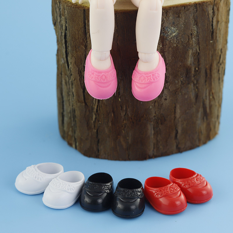 Shoes For 16cm BJD Dolls General-Purpose For OB11 Doll Body Plastic PVC Shoes Accessories 4 Color 4 Pairs