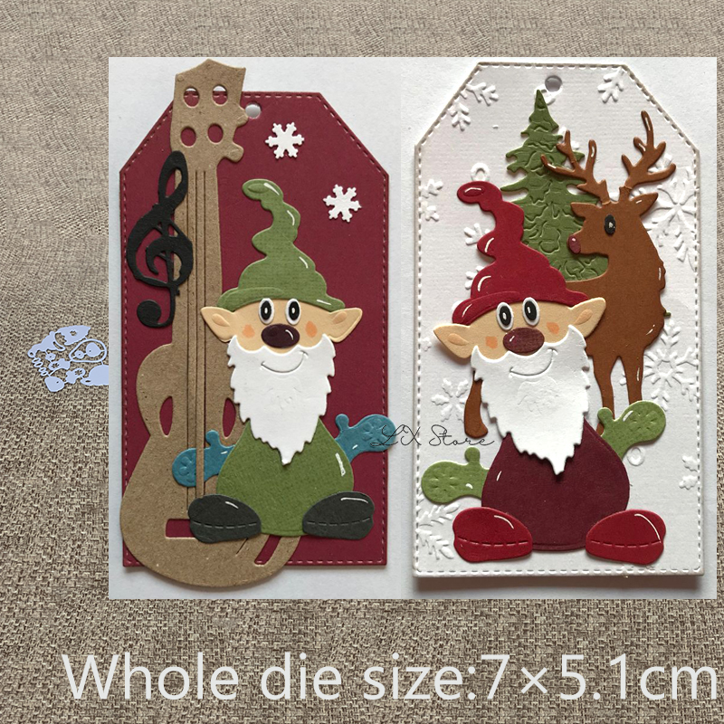 Gnome Easter Metal Cutting Dies Scrapbooking Die Cutters For Cards