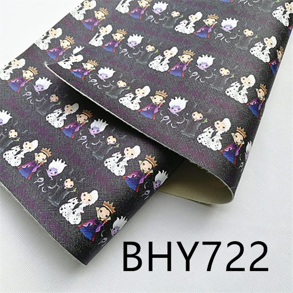 Free Shipping A4 20*33CM Cartoon Print Synthetic Leather Fabric For DIY Accessories BHY722