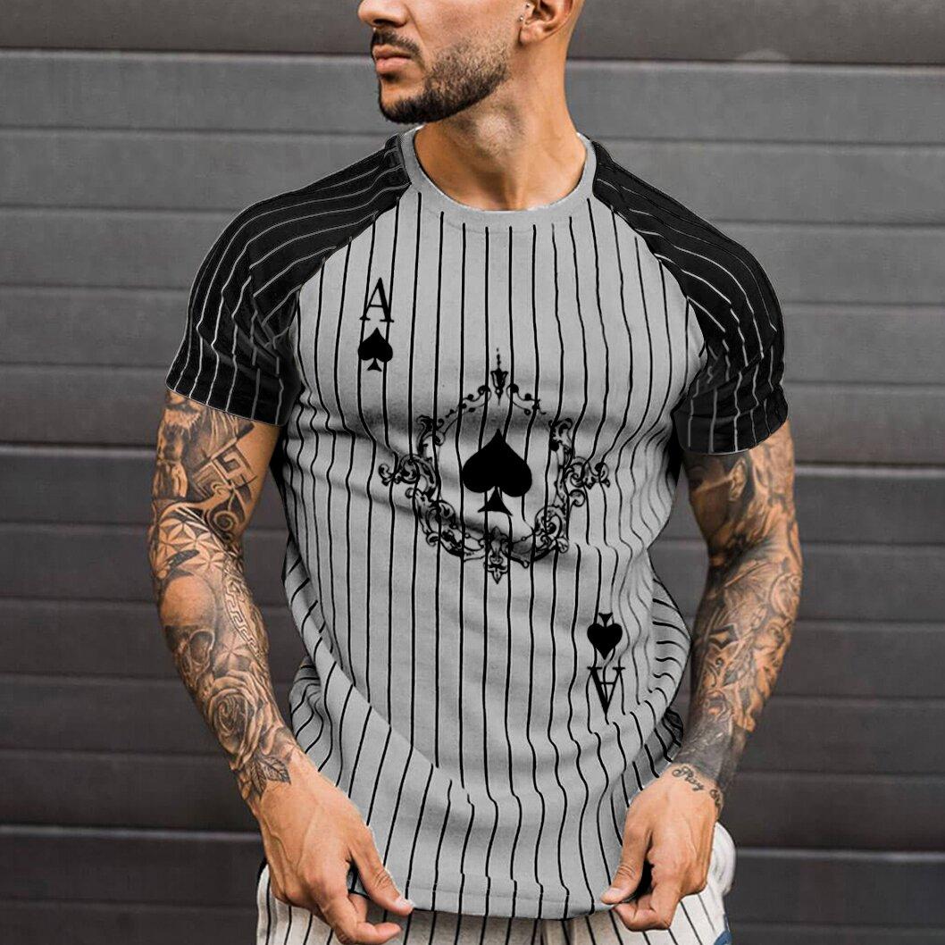 Streetwear Poker Print Graphic Tee Shirts 2