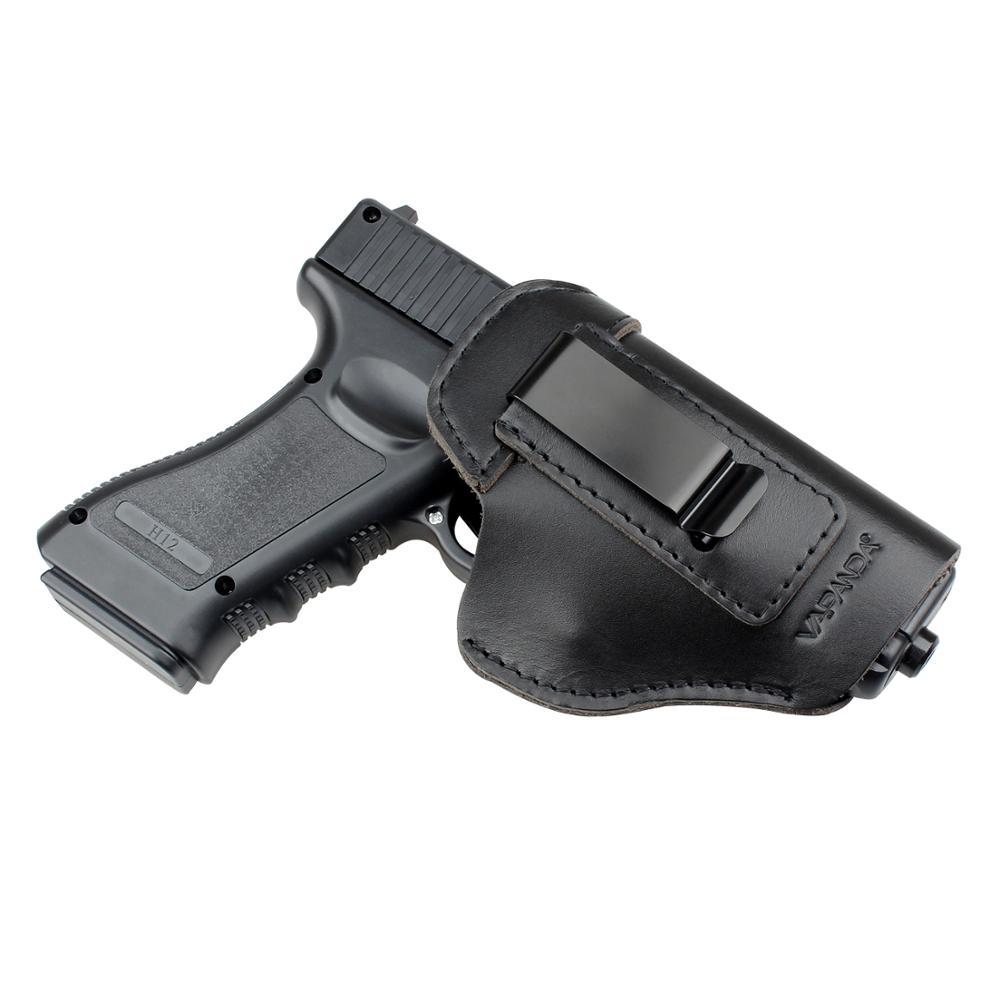 Kosibato-Funda de cuero para pistola de Glock, funda de caza oculta para Tauro Glock G2C Sig Sauer P226 SP2022 17 glock 19 21
