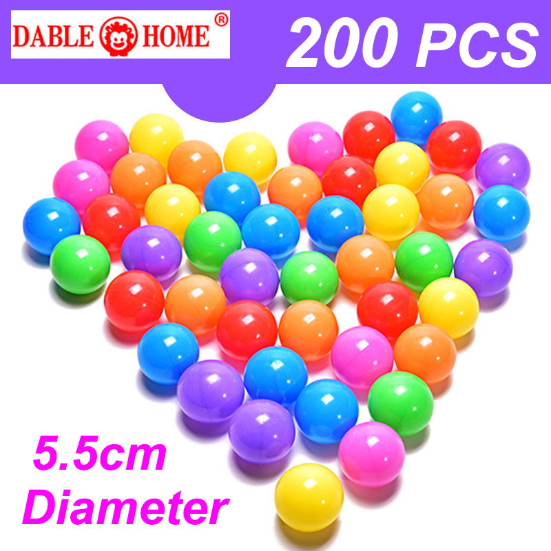 5.5cm Colorful Plastic Balls Toys Water Soft Ocean Wave Balls For The Pool Baby Swim Pit Toys Outdoor Sport Air Ball HYQ8