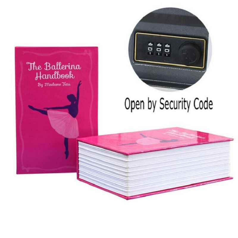 Key Lock Book Safes Hidden Safe Box Travel Home Money Jewelry Security Steel Simulation Book