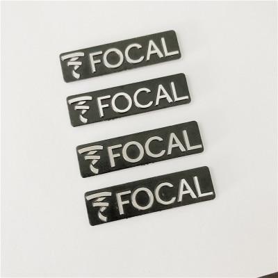 4 Pieces FOCAL Hi-Fi Badge Emblem Logo Sticker Decal 3M Speaker Grill Adhesive